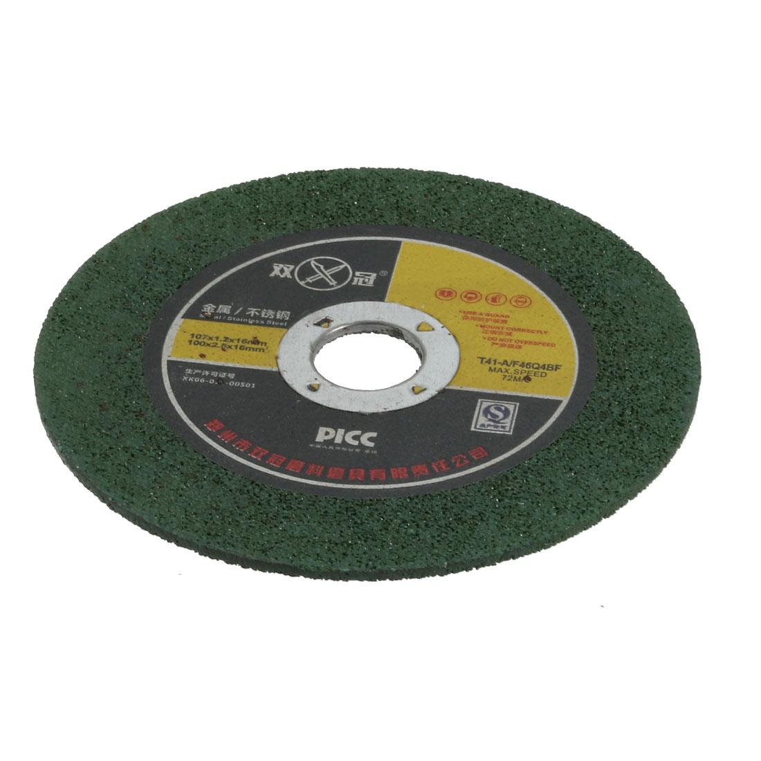 100mmx2.5mmx16mm Cutting Wheel Grinding Cut Off Disc Green 2pcs
