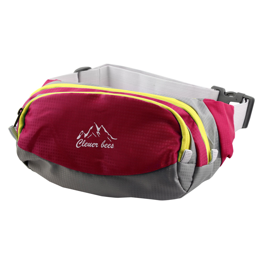 Bicycle Cycling Pouch Running Pocket Water Resistant Sports Waist Bag Fuchsia