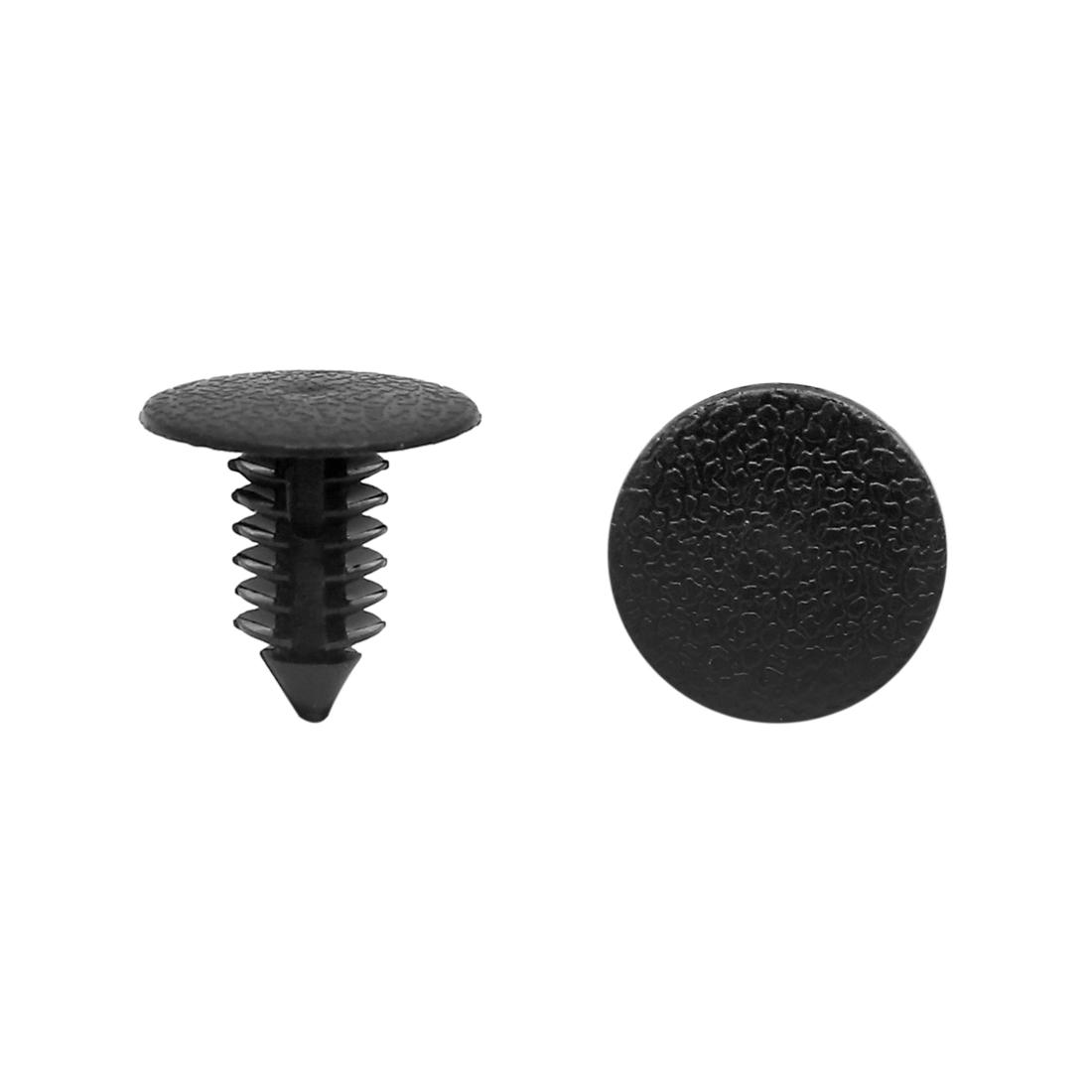 30Pcs 9mm Hole Dia Car Auto Black Plastic Screw Fastener Rivet Retainers Clip