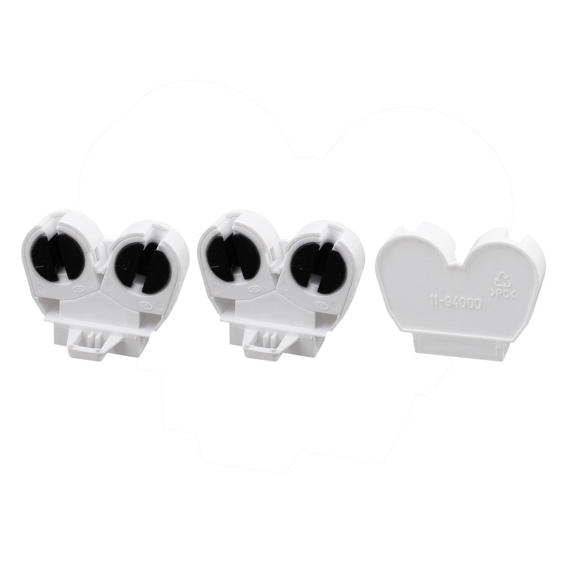 3 Pcs F288W T5 Double Light Socket G5 Base Fluorescent Tube Lamp Holder Adapter
