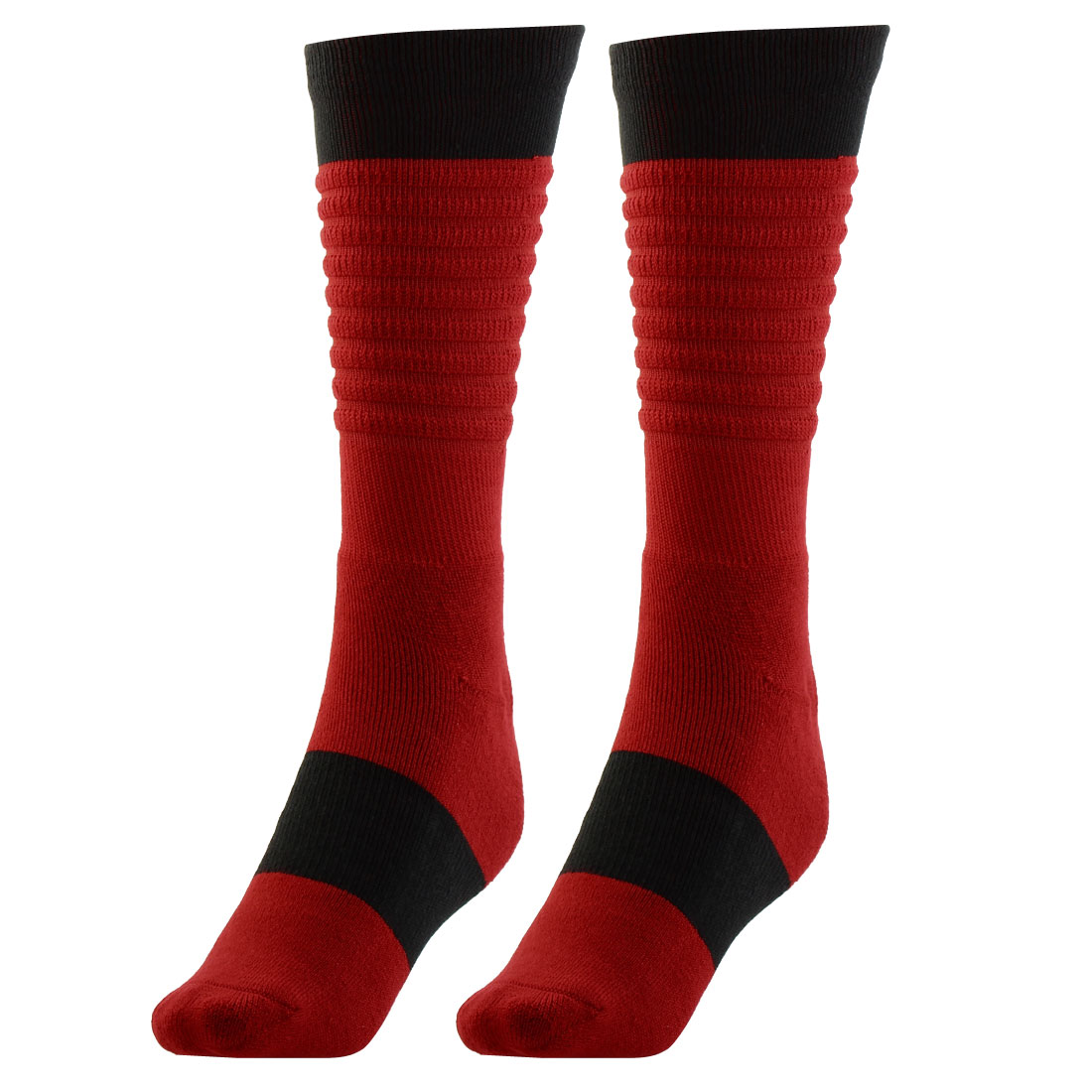 Outdoor Activities Basketball Multi Performance Running Exercise Sports Trekking Hiking Socks Red Pair