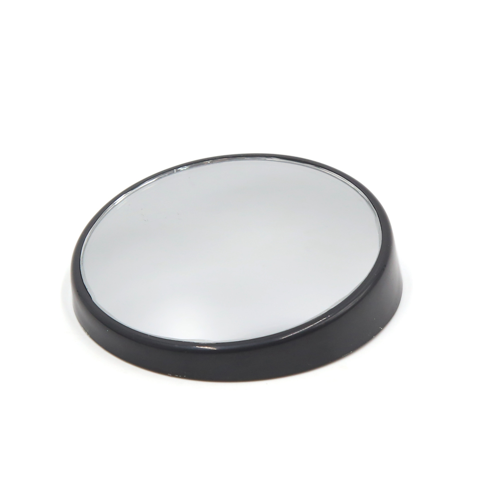 Black Shell 70mm Round Convex Wide Angle Automobile Rear View Blind Spot Mirror
