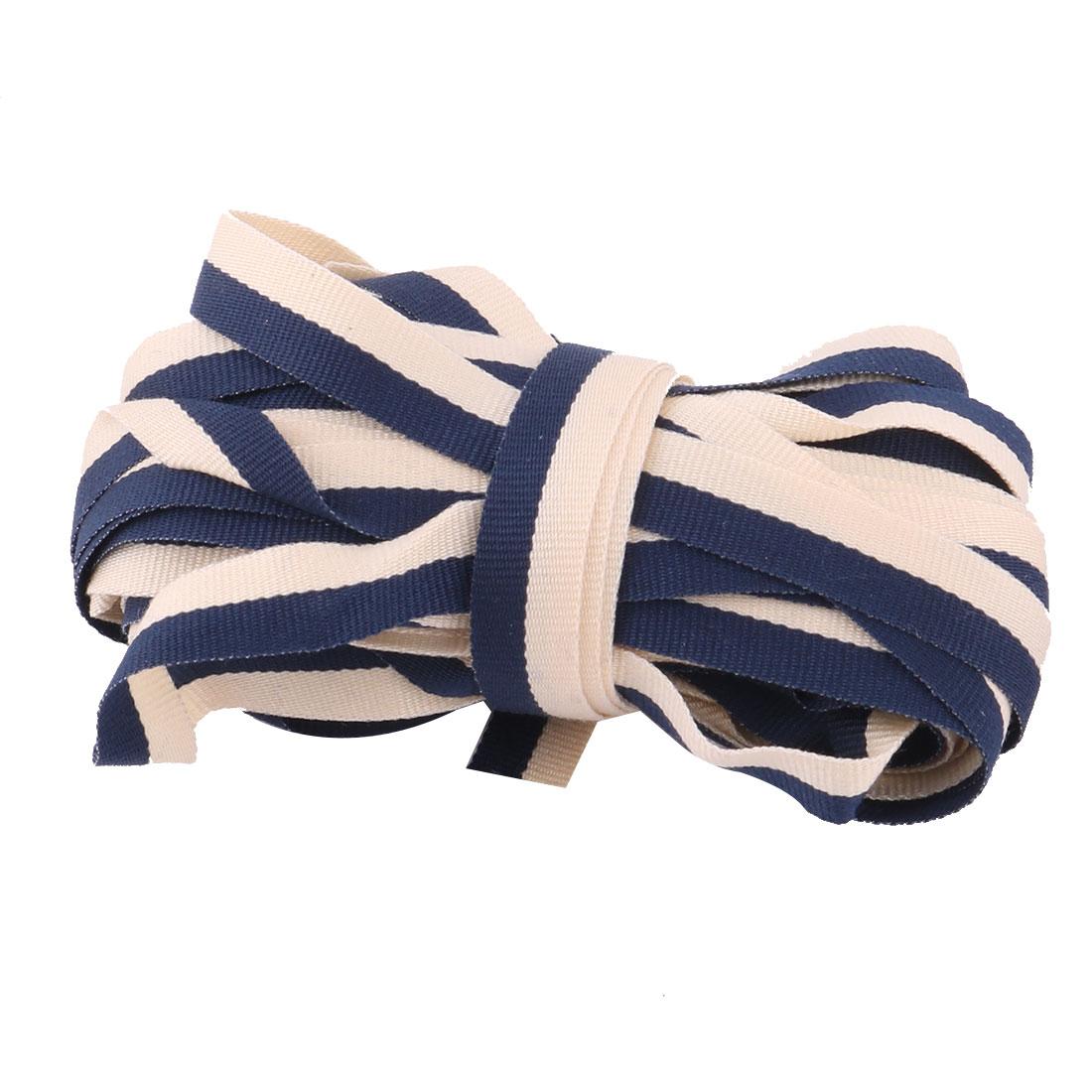 Polyester DIY Craft Wrapping Sewing Ribbon String Bundling Khaki Blue 10 Yards