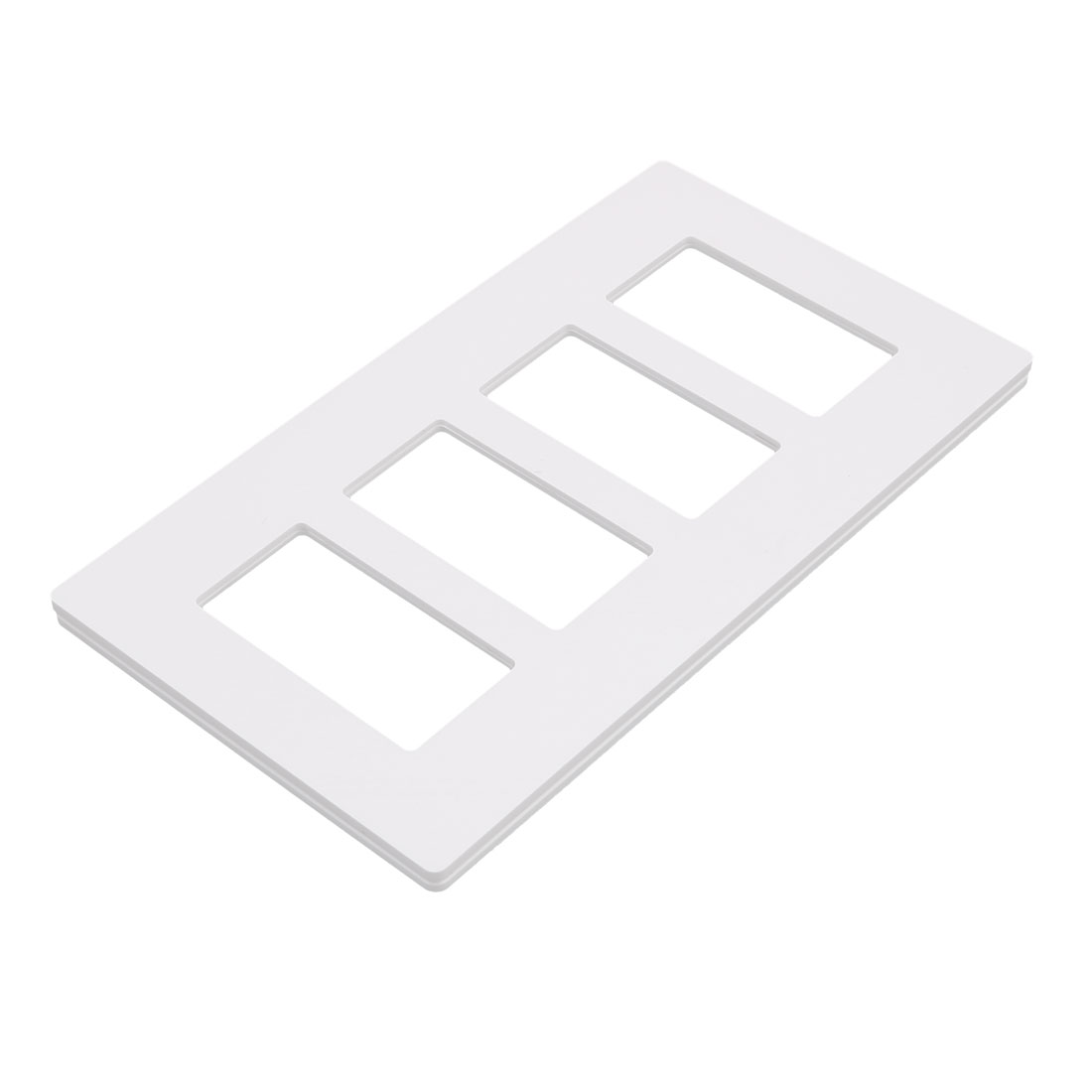 4-Gang Decorator GFCI Device Wallplate Unbreakable Polycarbonate UL Listed White