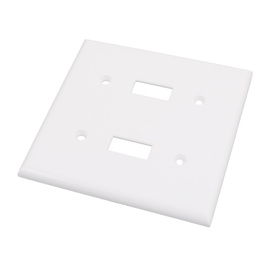 2-Gang Thermoplastic Nylon Device Mount Toggle Device Switch Wallplate White
