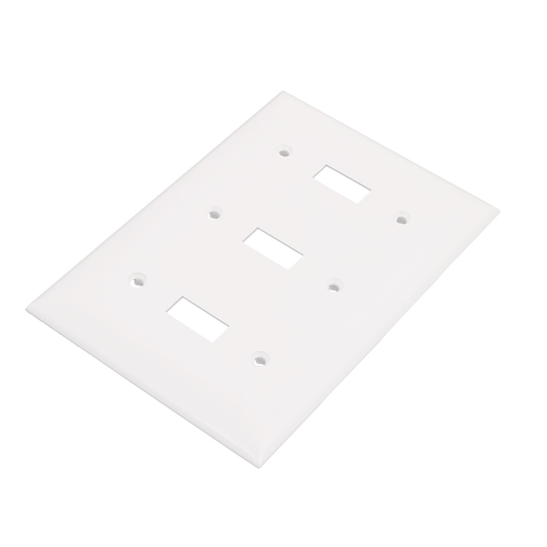 3-Gang Thermoplastic Nylon Device Mount Toggle Device Switch Wallplate White