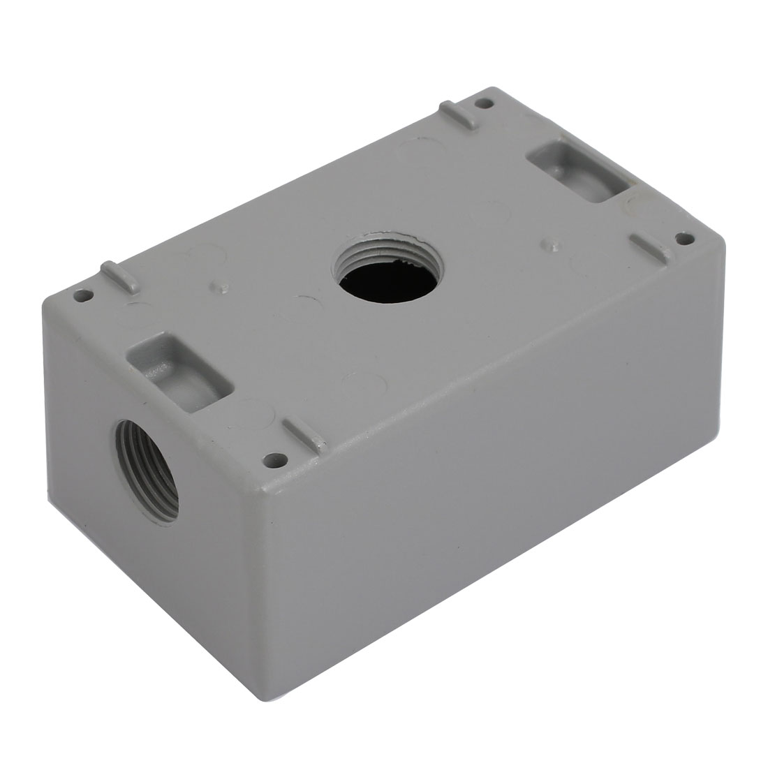 1/2BSP 3 Thread Hole 1 Gang Electrical Junction Outlet Box Enclosure Case Gray