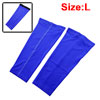 Outdoor Football Basketball Running Sports Leg Sleeve Brace Athletic Training Calf Guard Support Protector Blue Size L Pair