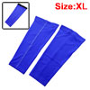 Outdoor Football Basketball Running Sports Leg Sleeve Brace Athletic Training Calf Guard Support Protector Blue Size XL Pair