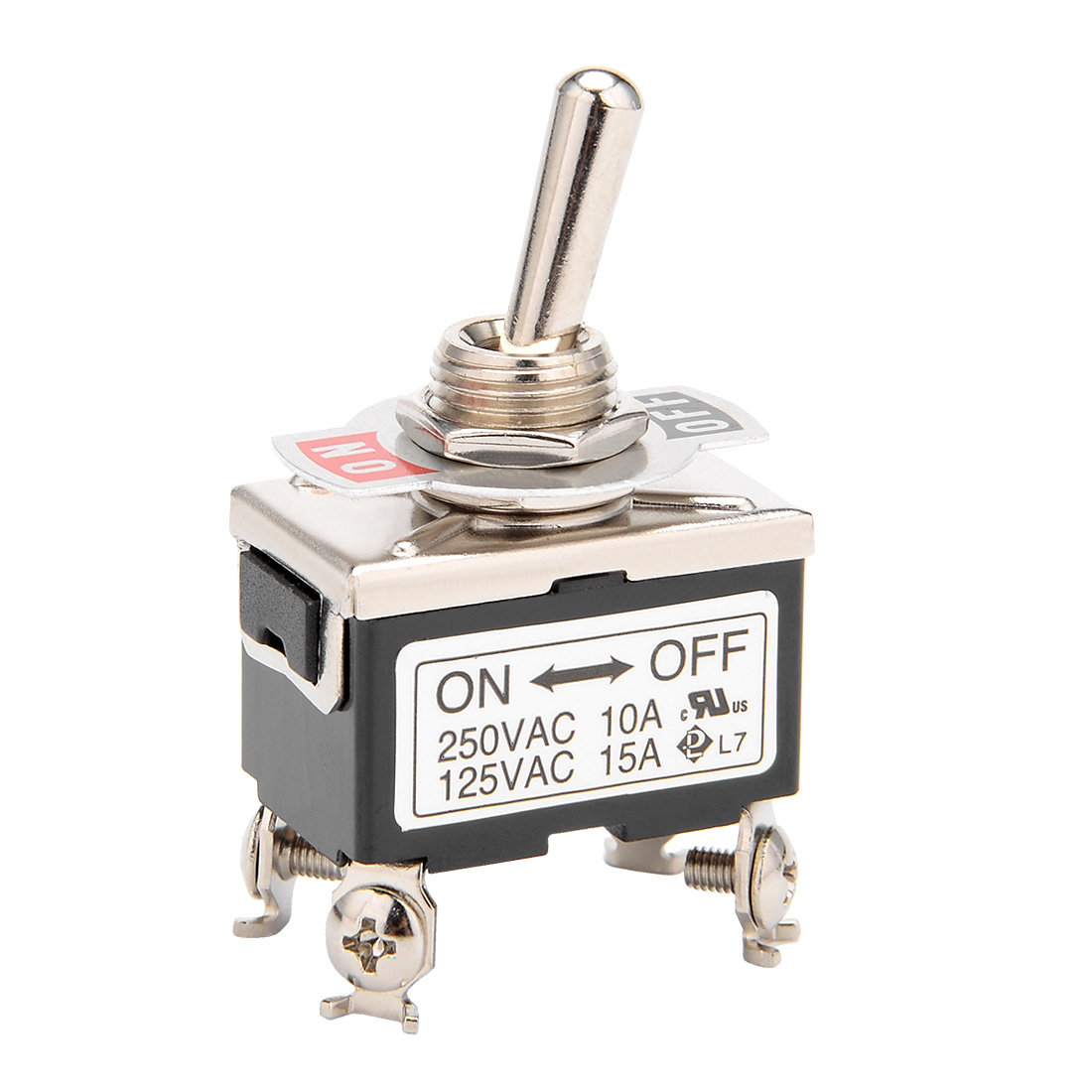 AC 125V/15A 250V/10A ON-OFF 2 Position 2 Terminals Latching DPST Toggle Switch