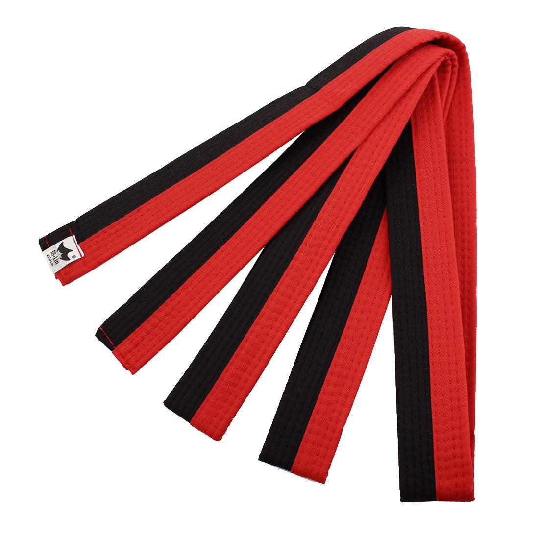 Solid Sporty Rank Tae Kwon Taekwondo Belt Martial Arts Karate Band Red Black