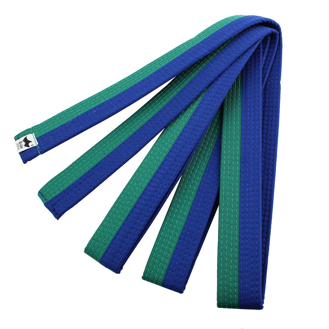 Solid Sporty Rank Judo Taekwondo Belt Martial Arts Karate Band Green Blue