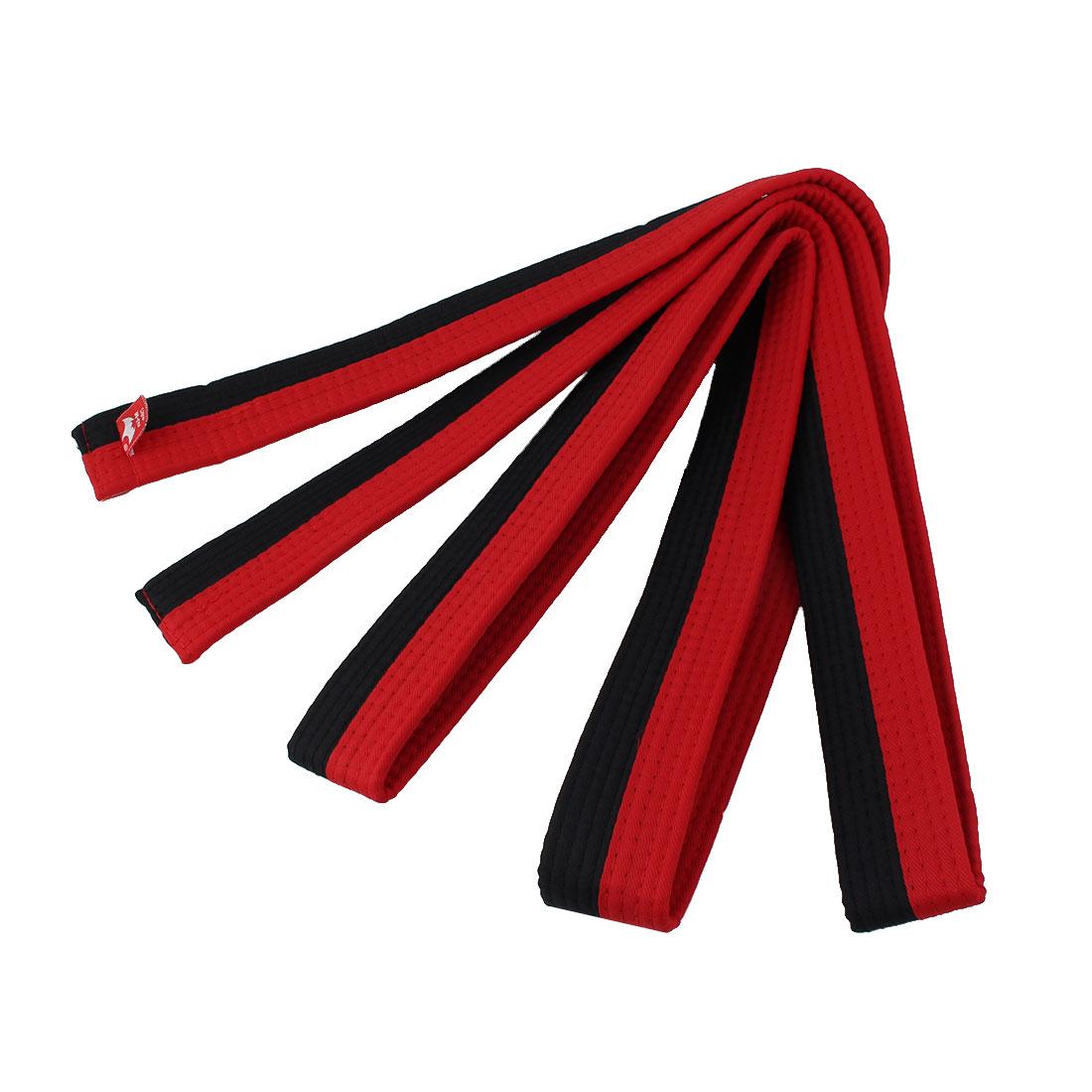 Judo Taekwondo Cotton Blend Band Belt Red Black 250cm Length