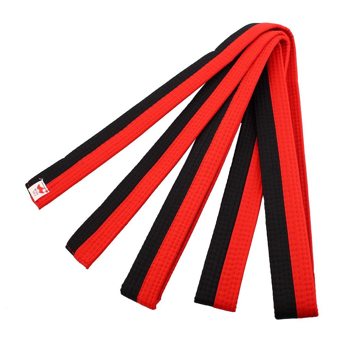 Master Martial Arts Band Judo Wrap Taekwondo Uniform Belt Red Black 280cm Length