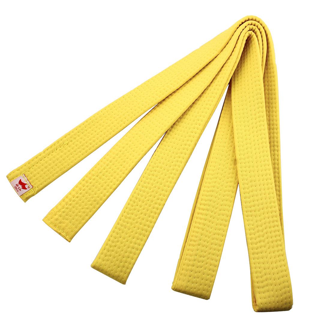Martial Arts Band Kendo Karate Wrap Taekwondo Uniform Belt Yellow 280cm Length