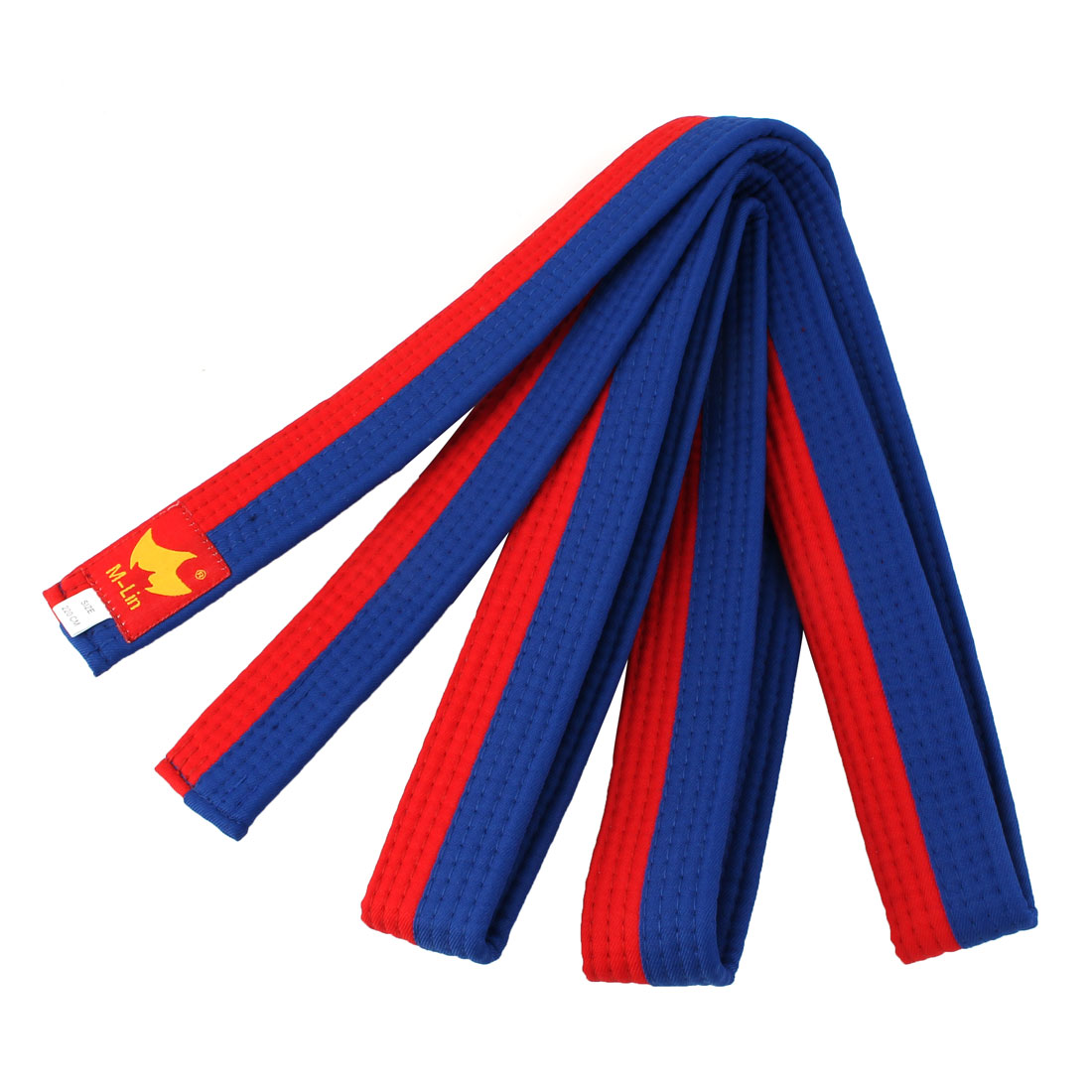 Taekwondo Cotton Blend Sporty Band Belt Blue Red 220cm Length