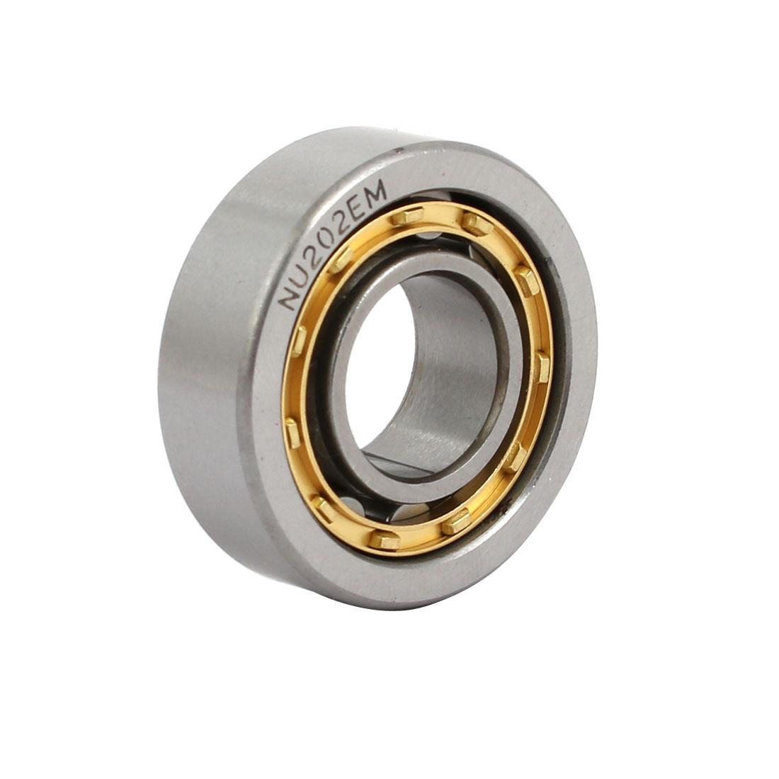 NU202EM 35mmx15mmx10mm Single Row Cylindrical Roller Bearing