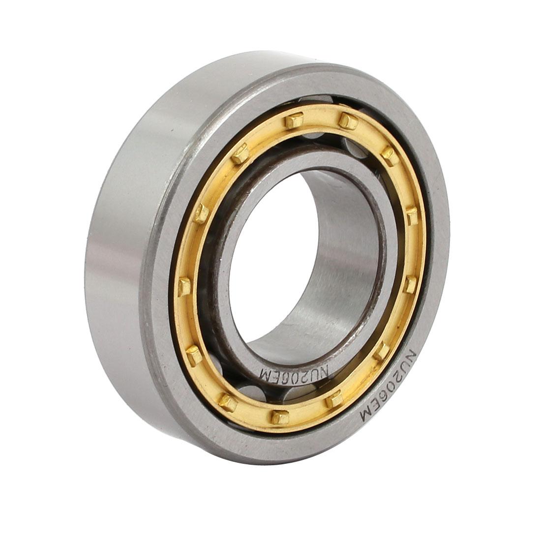 NU206EM 62mmx30mmx15mm Single Row Cylindrical Roller Bearing