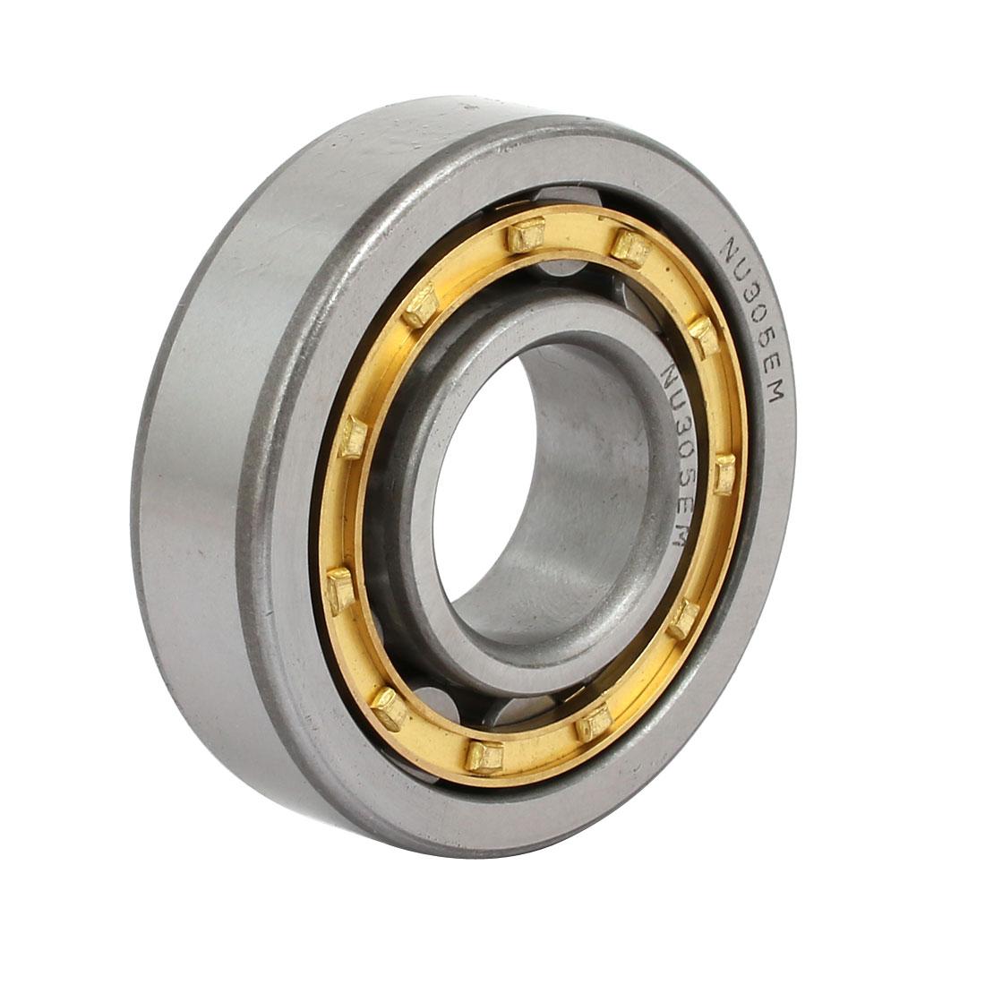 NU305EM 62mmx25mmx17mm Single Row Cylindrical Roller Bearing