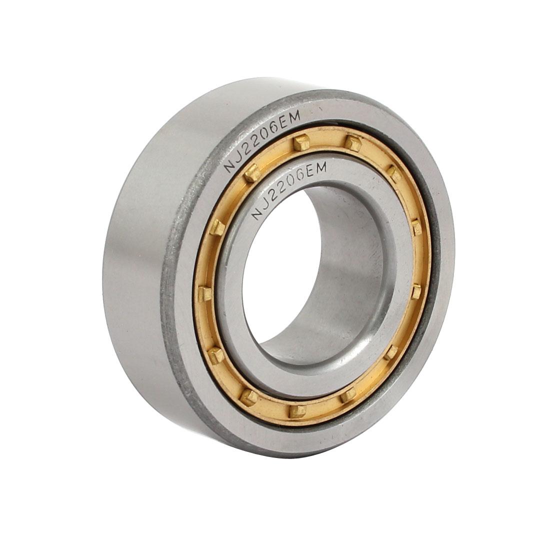 NJ2206EM 62mmx30mmx20mm Single Row Cylindrical Roller Bearing