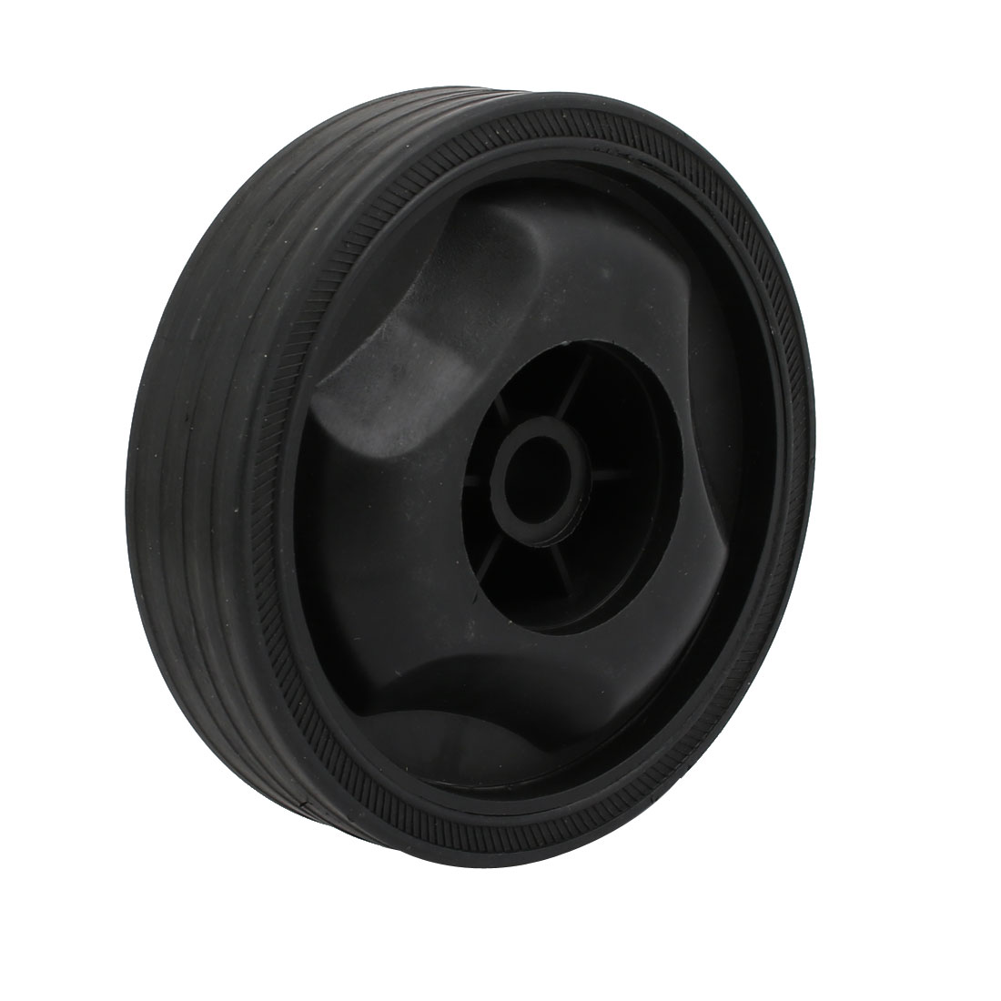 115mm Dia Plastic Replacement Parts Wheel Casters Black for Air Compressor
