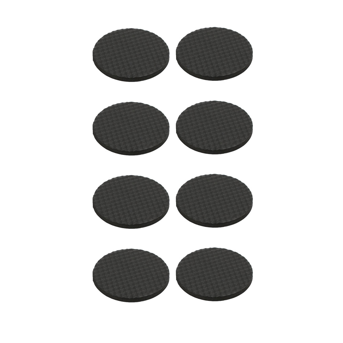 Rubber Tables Chairs Bed Round Shape Self Adhesive Protection Pads Black 8pcs