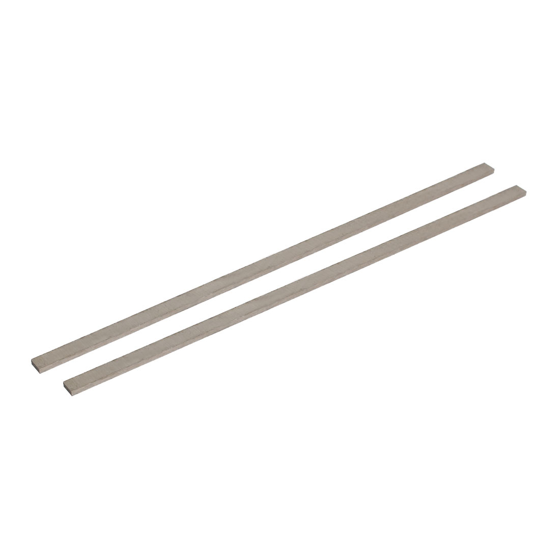 2mmx6mmx200mm Metal Rectangle Lathe Tool Boring Bar Fly Cutter Silver Tone 2pcs