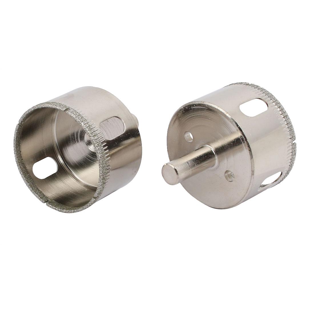 50mm Cutting Diameter Diamond Coated Drill Marble Glass Hole Saw 2pcs
