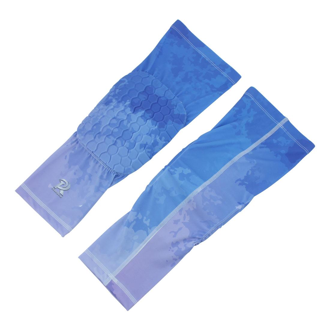 Sports Knee Brace Leg Sleeve Wrap Support Blue #1 XL Pair