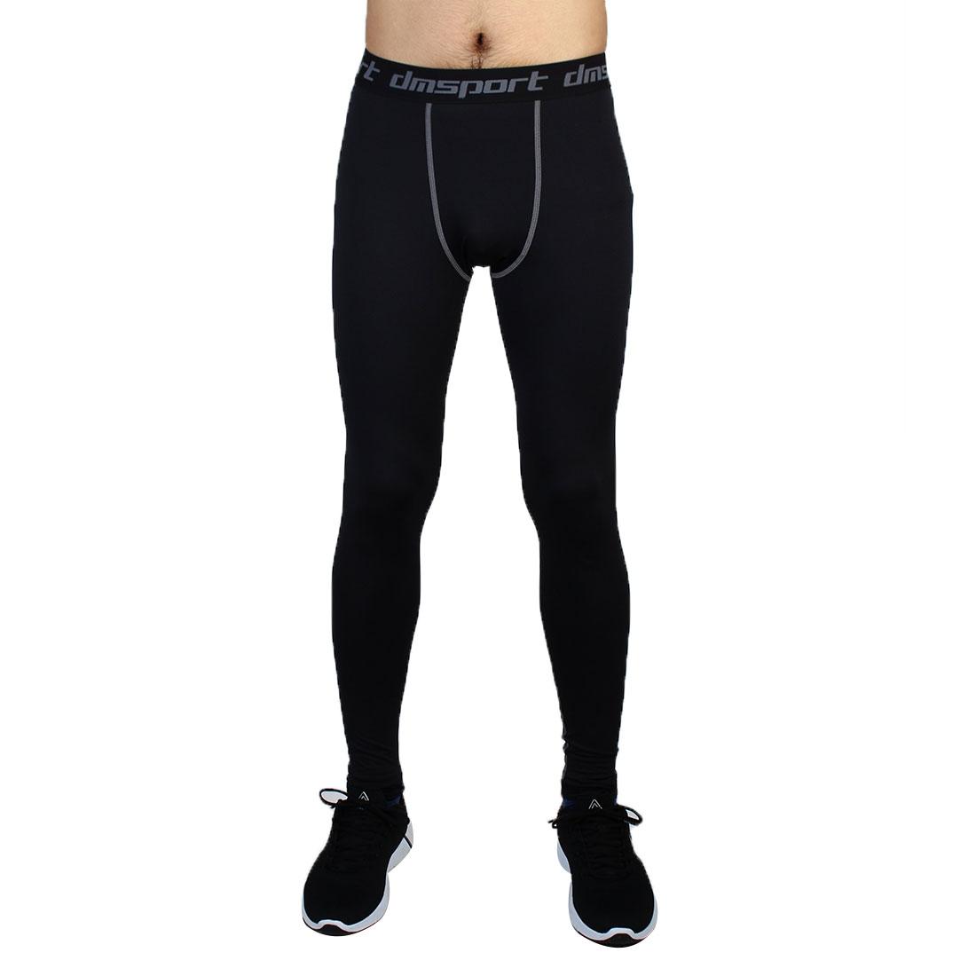 Men Sports Compression Base Layer Tights Running Long Pants Black W36