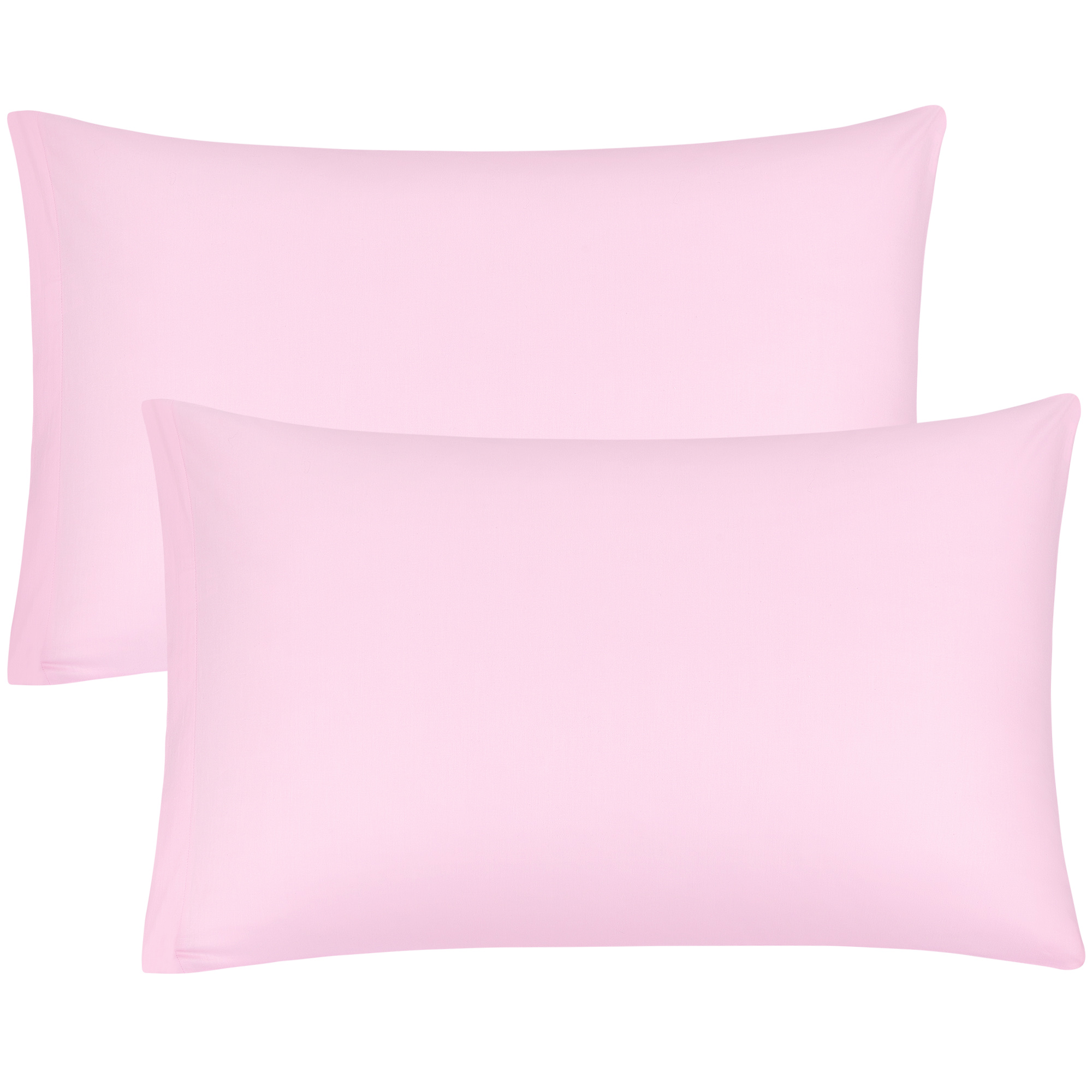Zippered Cases Pillowcases Covers Egyptian Cotton 2-Pack (20 x 26 Inch, Pink)
