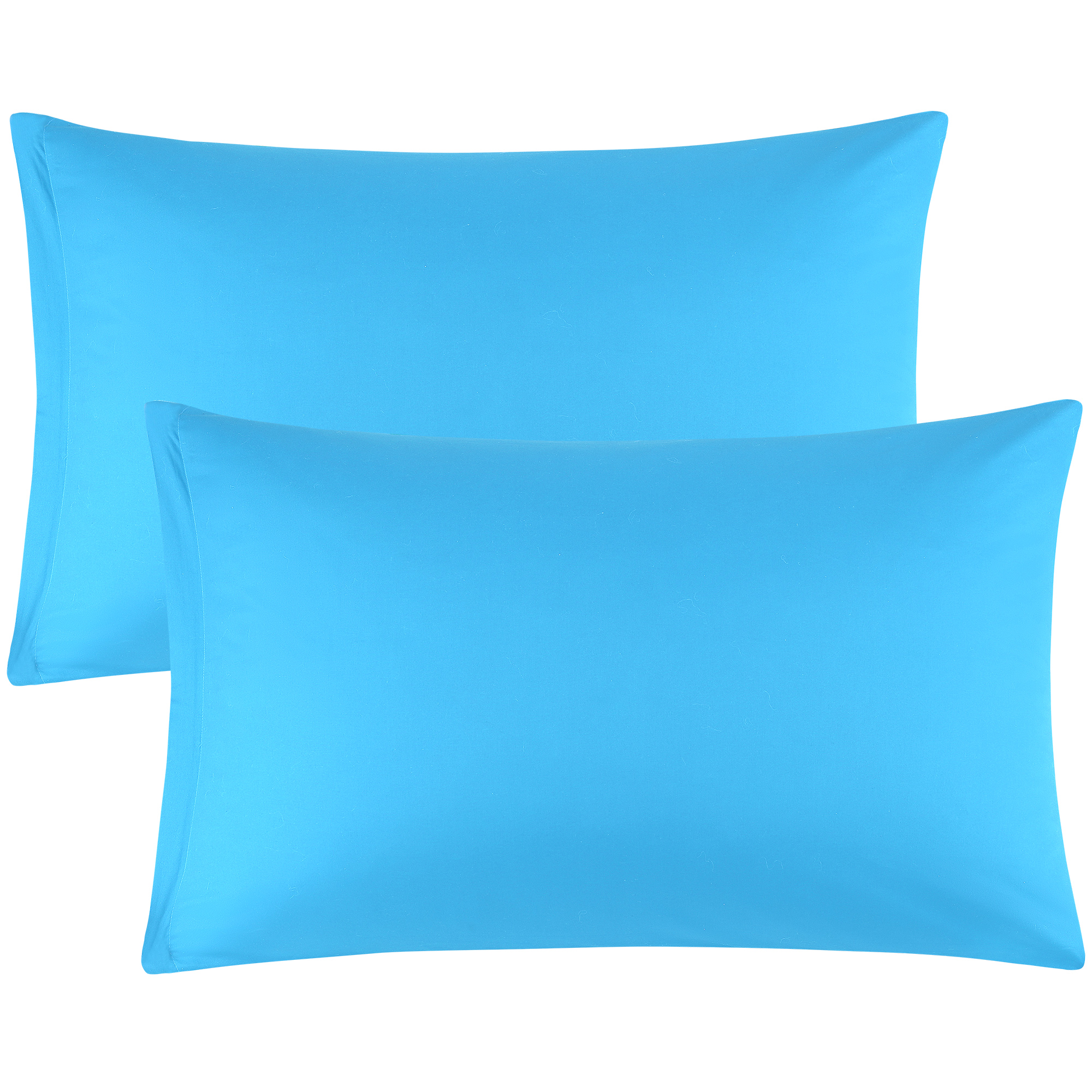 Zippered Cases Pillowcases Covers Egyptian Cotton 2-Pack (20 x 26 Inch, Blue)