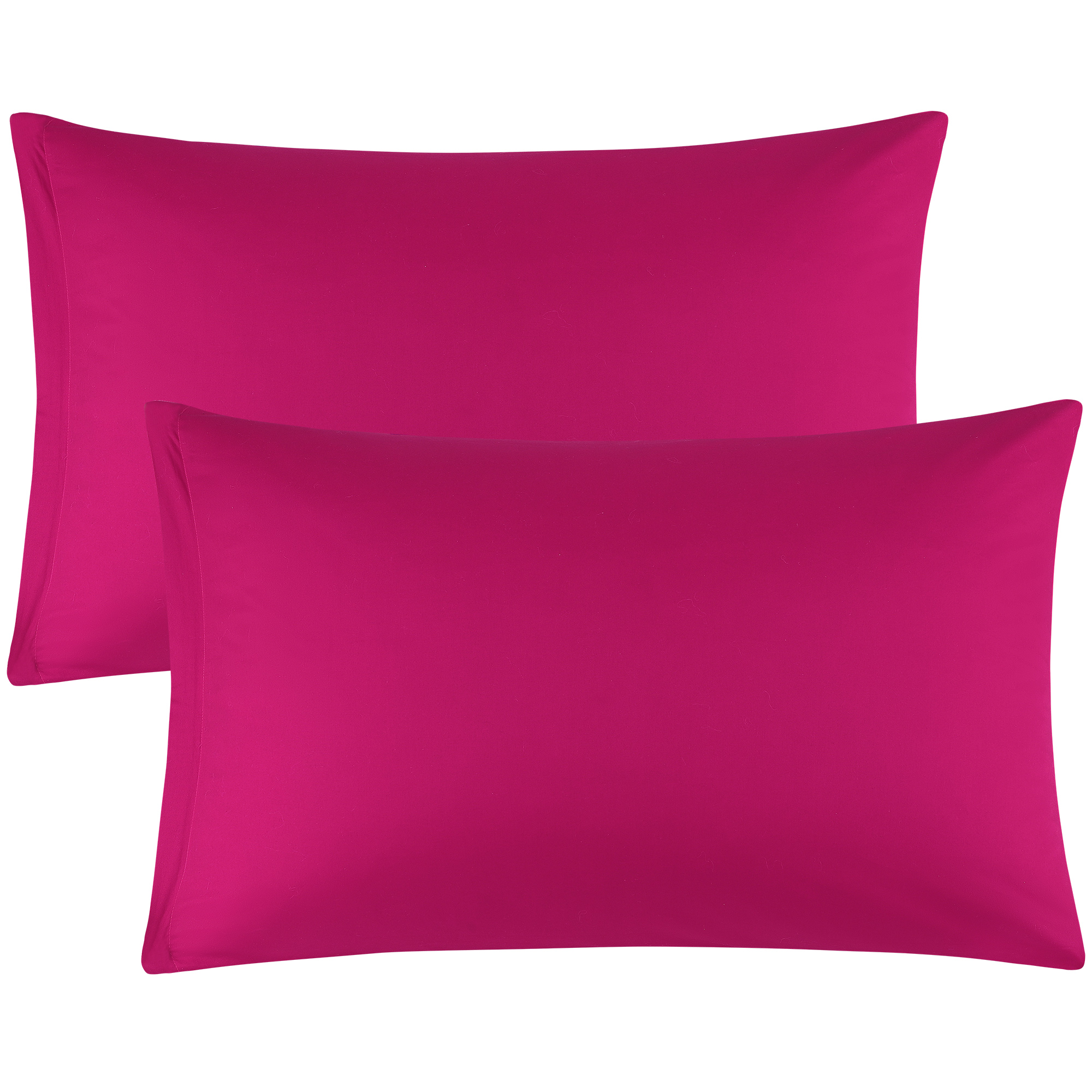 Zippered Cases Pillowcases Covers Egyptian Cotton 2-Pack (20 x 26 Inch, Fuchsia)