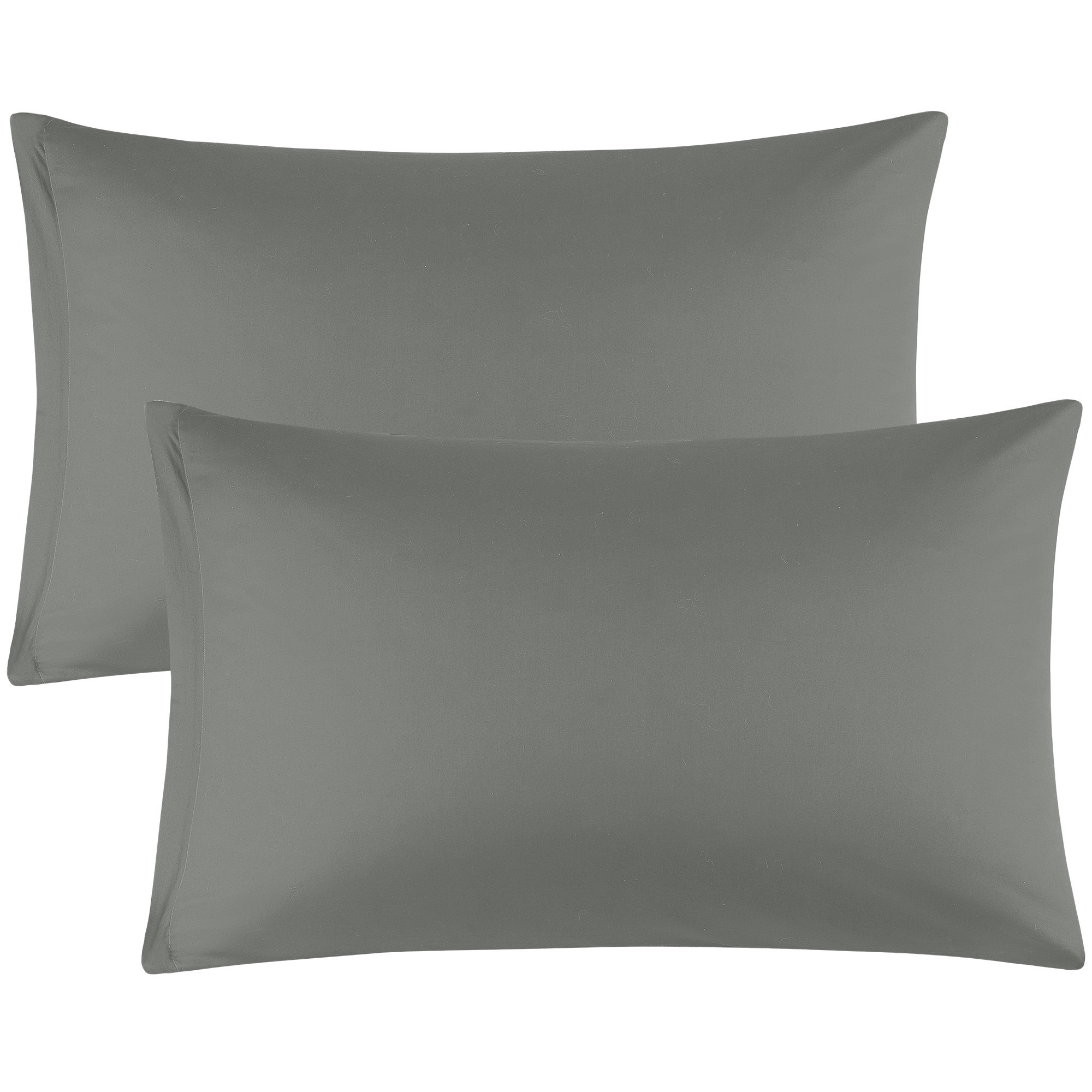 Zippered Pillowcases Covers Egyptian Cotton 2-Pack (20 x 26 Inch, Dark Gray)