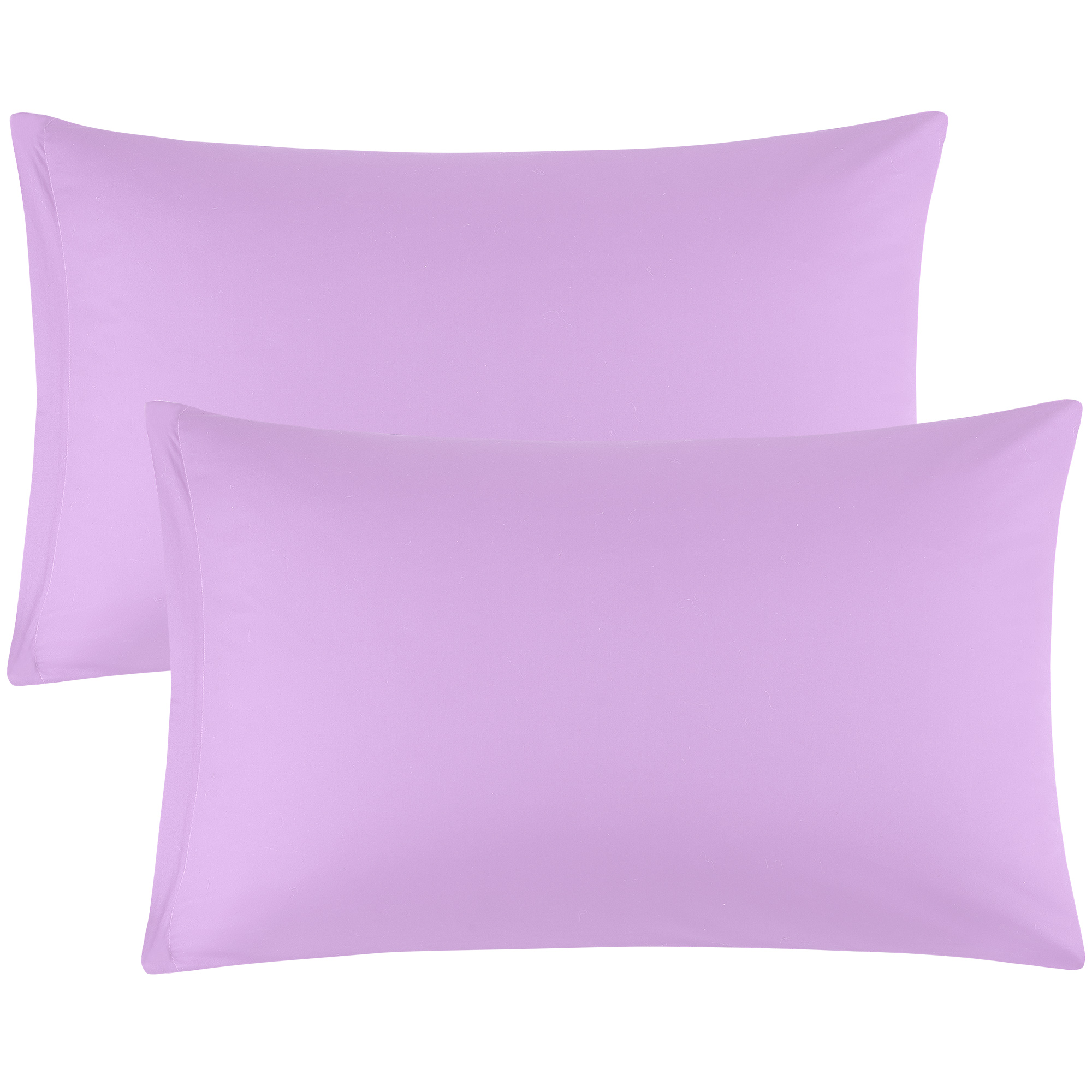 Zippered Pillowcases Covers Egyptian Cotton 2-Pack (20 x 26 Inch, Light Purple)