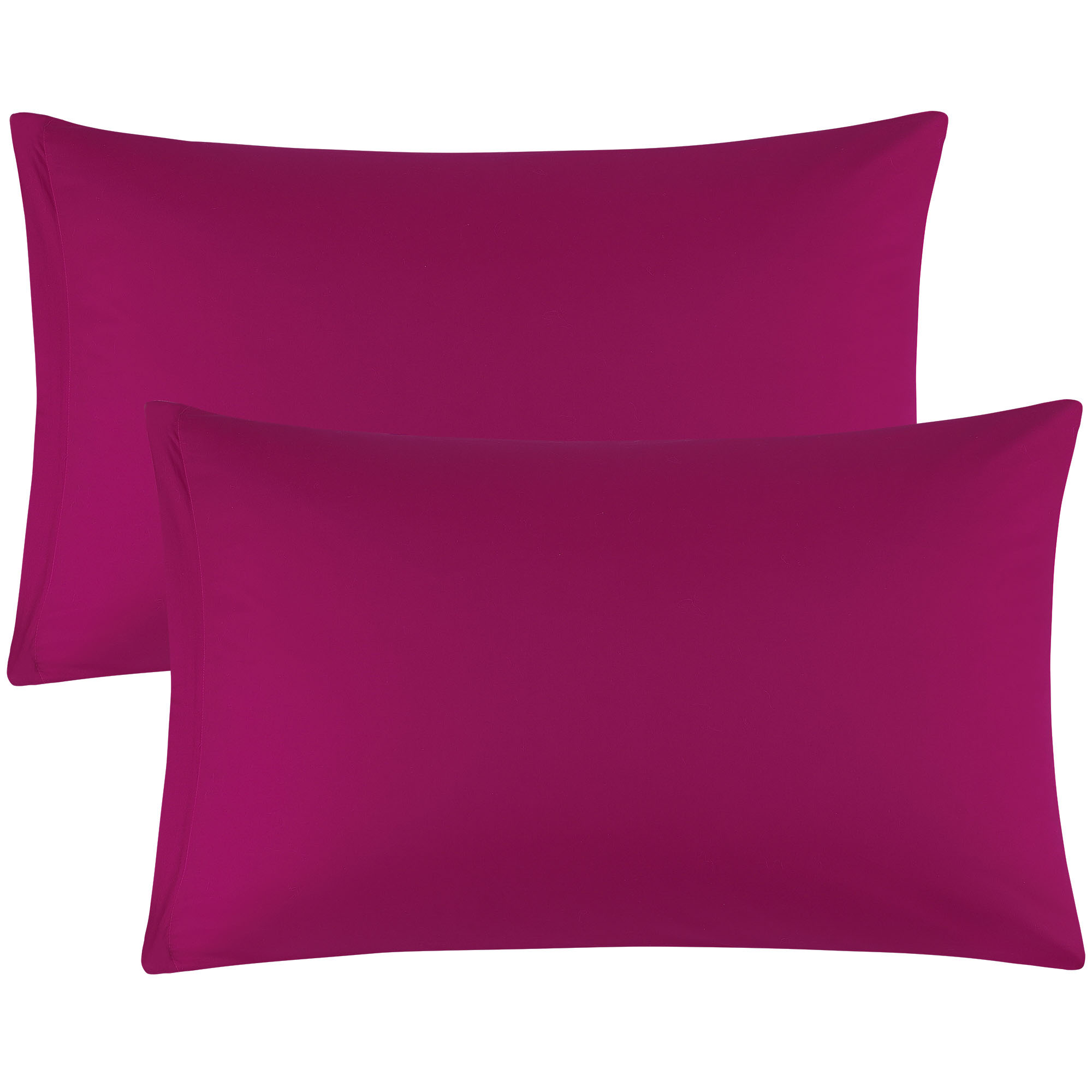Zippered Cases Pillowcases Covers Egyptian Cotton 2-Pack (20 x 30 Inch, Fuchsia)