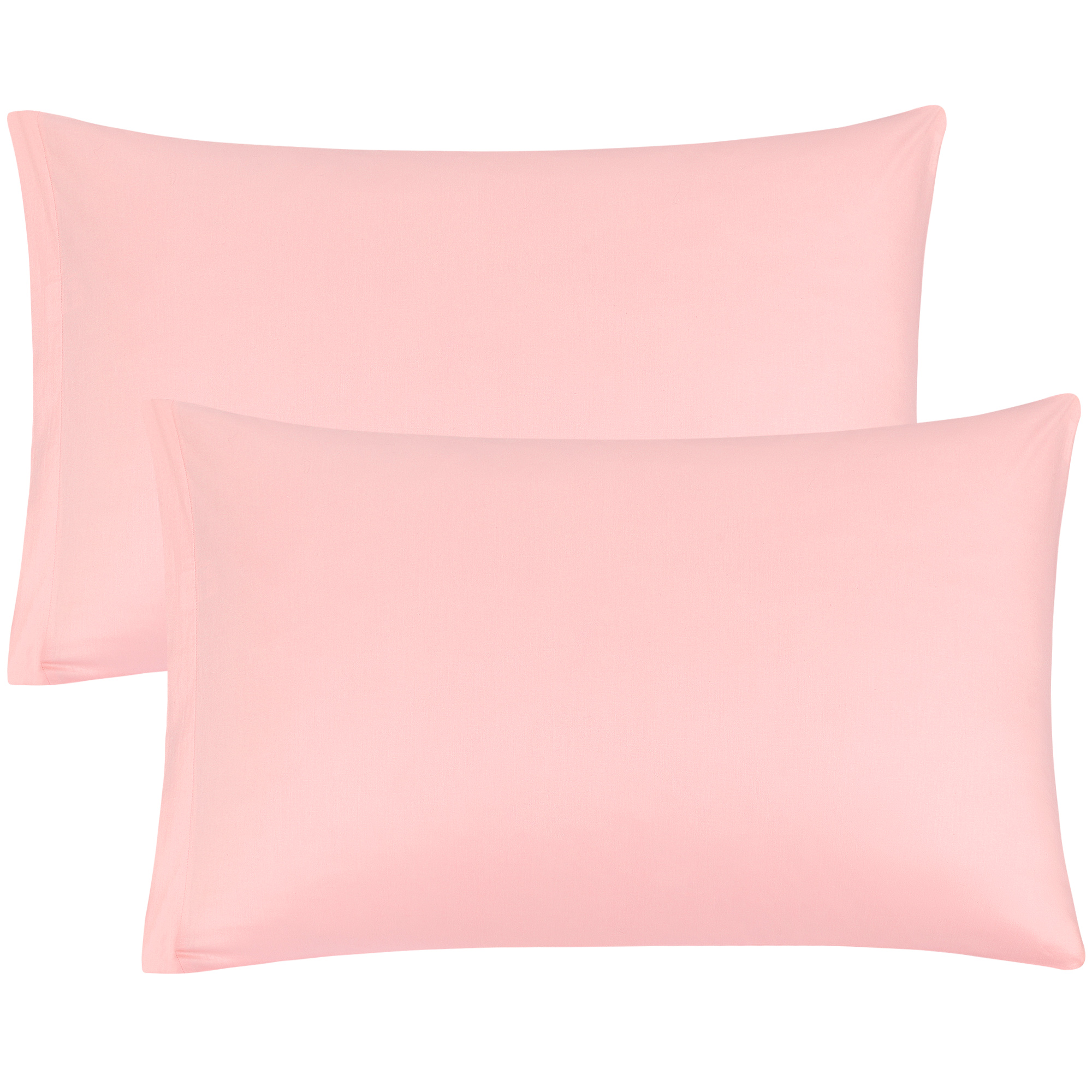 Zippered Pillowcases Covers Egyptian Cotton 2-Pack (20 x 30 Inch, Light Pink)