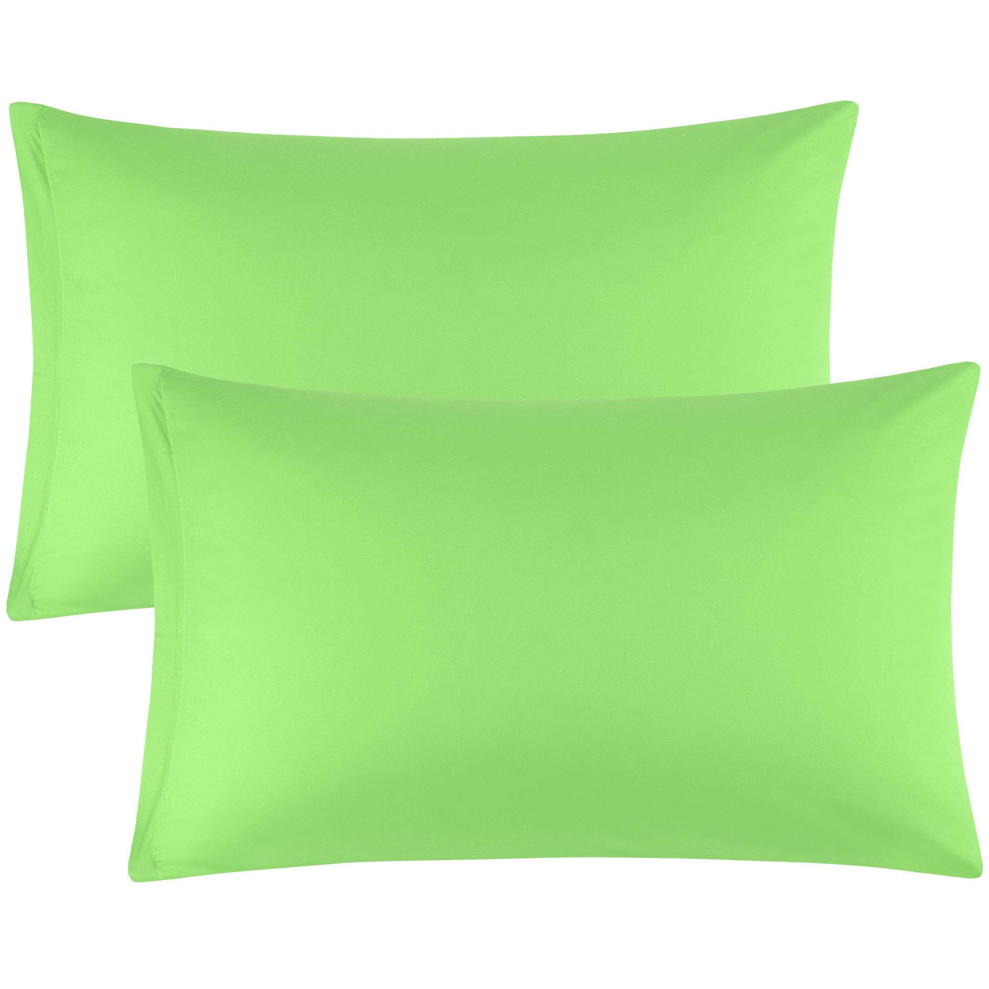 Zippered Pillow Cases Pillowcases Egyptian Cotton 2-Pack (20 x 30 Inch, Green)