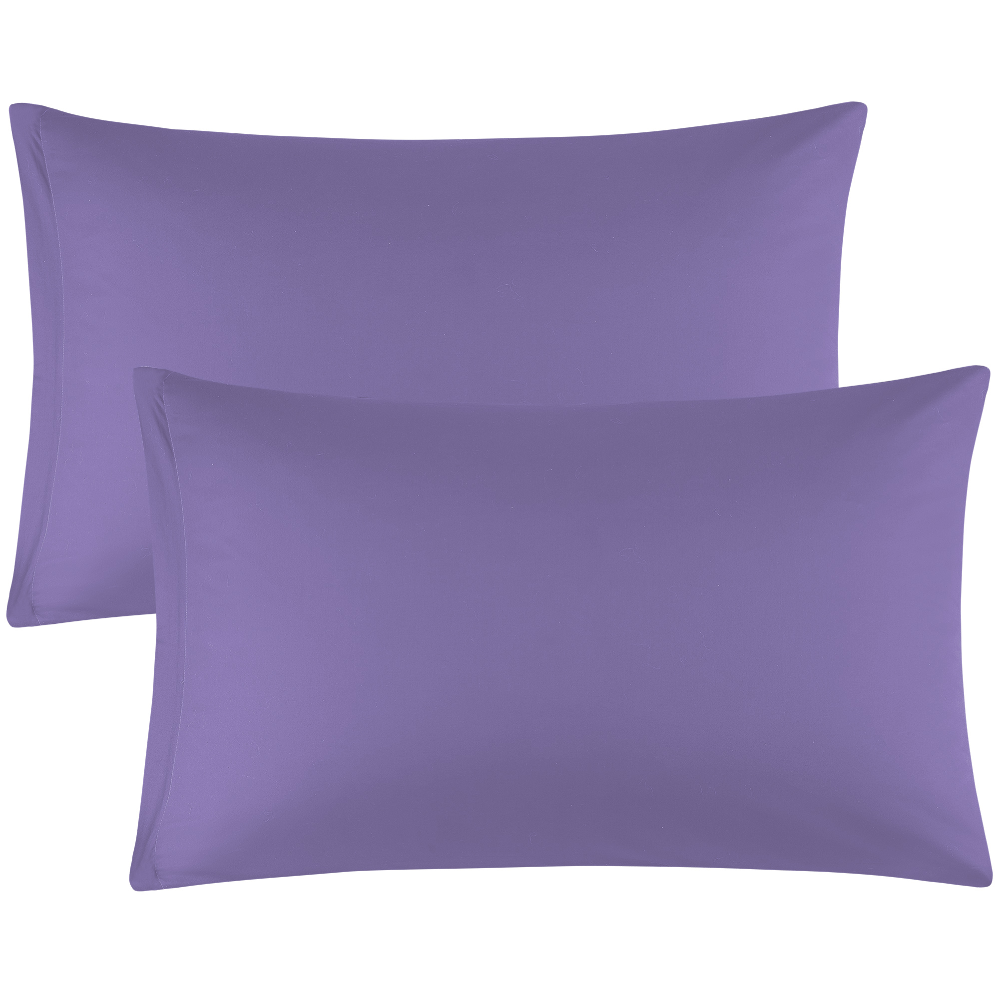 Zippered Pillowcases Covers Egyptian Cotton 2-Pack (20 x 30 Inch, Purple)