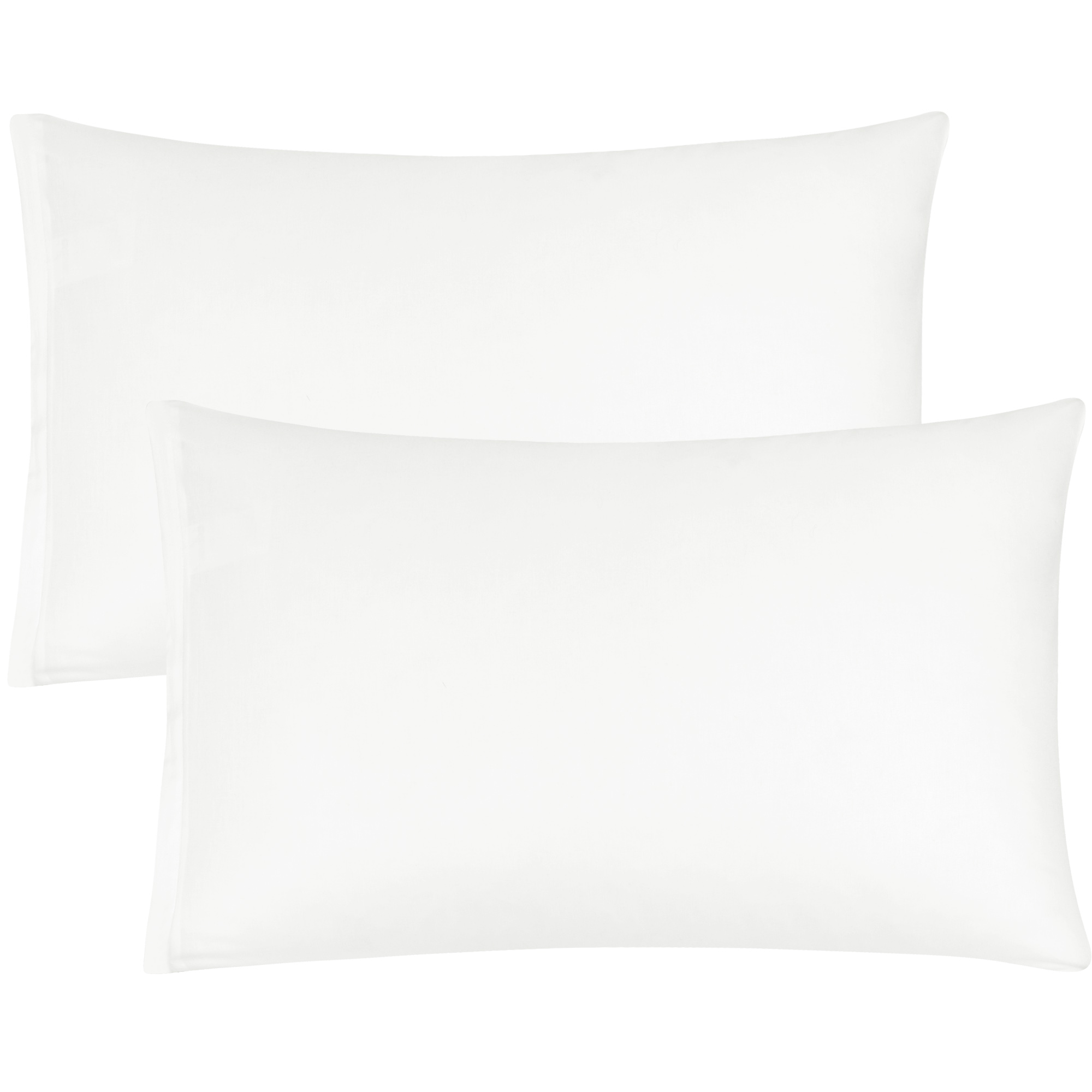 Zippered Cases Pillowcases Covers Egyptian Cotton 2-Pack (20 x 36 Inch, White)
