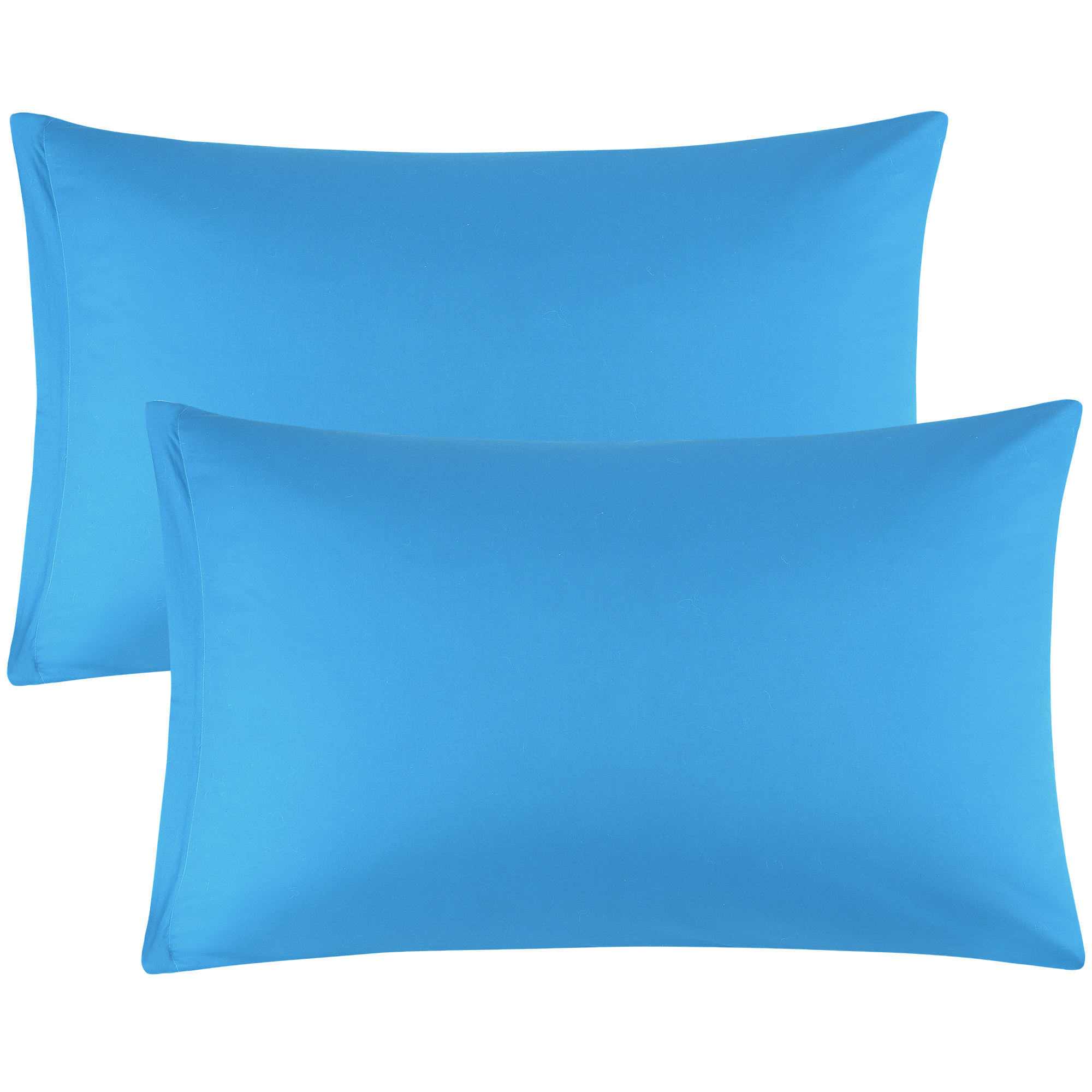 Zippered Cases Pillowcases Covers Egyptian Cotton 2-Pack (20 x 36 Inch, Blue)