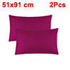 Zippered Pillow Cases Pillowcases Covers Egyptian Cotton 2-Pack (20 x 36 Inch, Fuchsia)