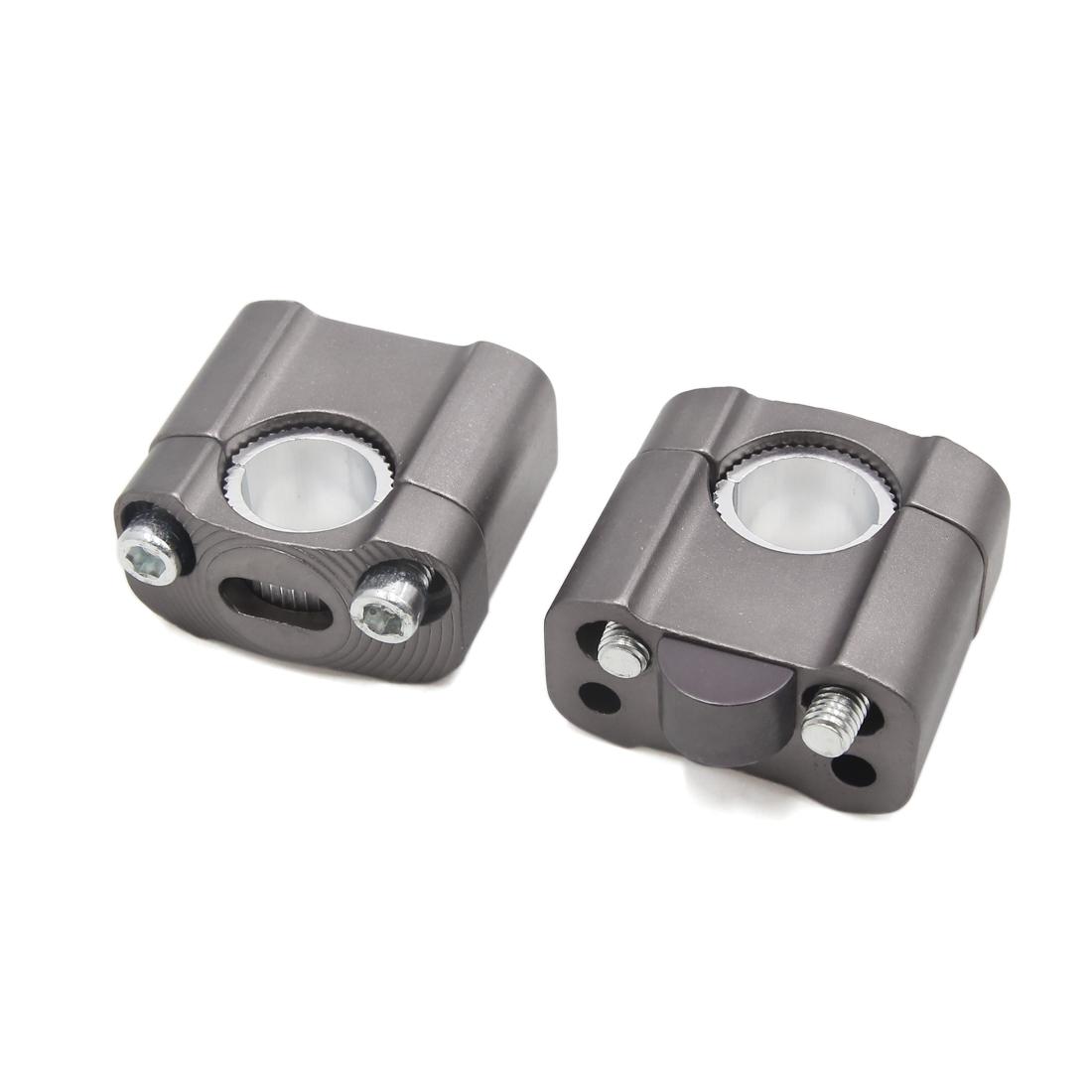 2Pcs Universal Titanium 22mm Handlebar Bar Riser Clamp Adaptor for Motorcycle