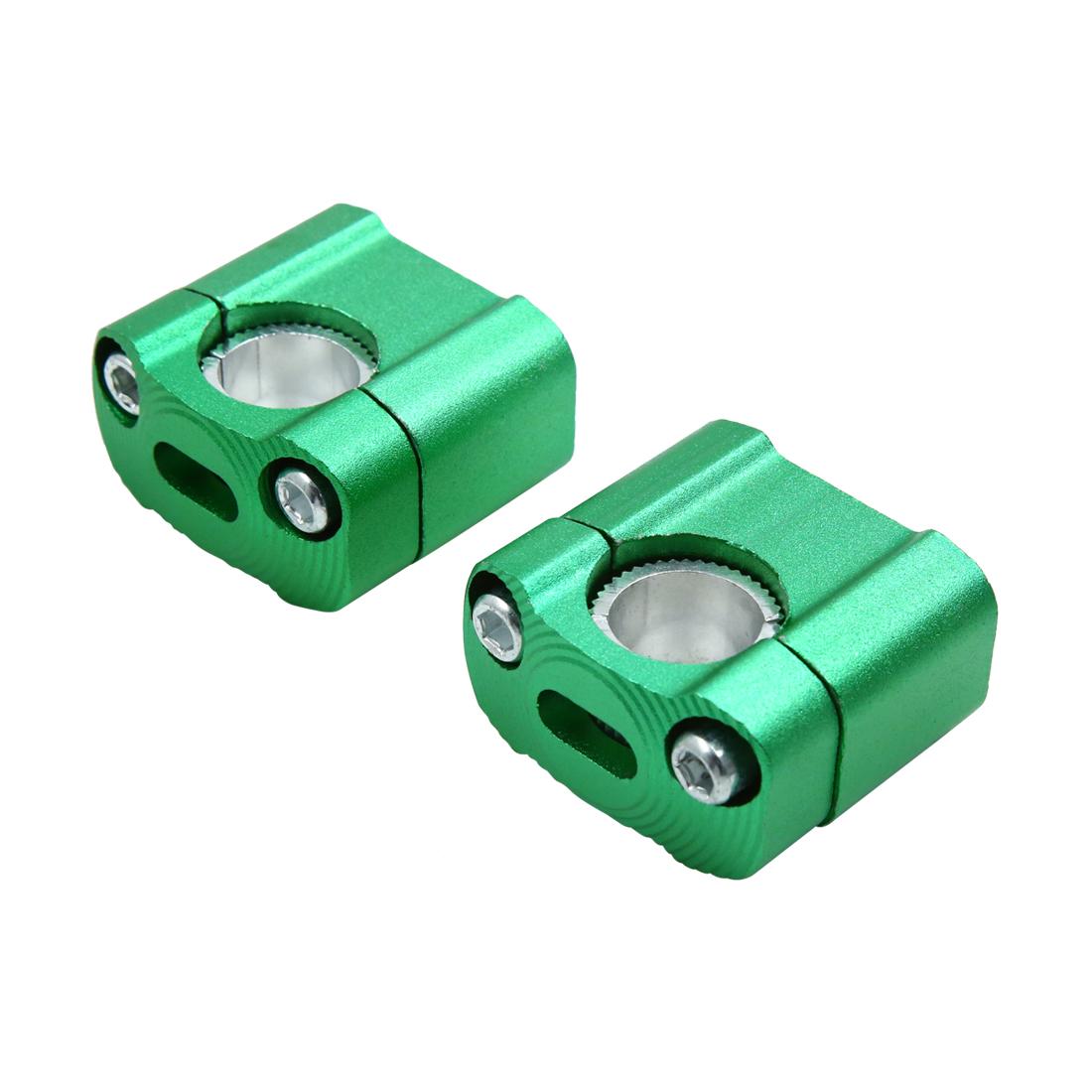 2Pcs Universal Green 28mm Handlebar Riser Clamp Bracket Adaptor for Motorcycle