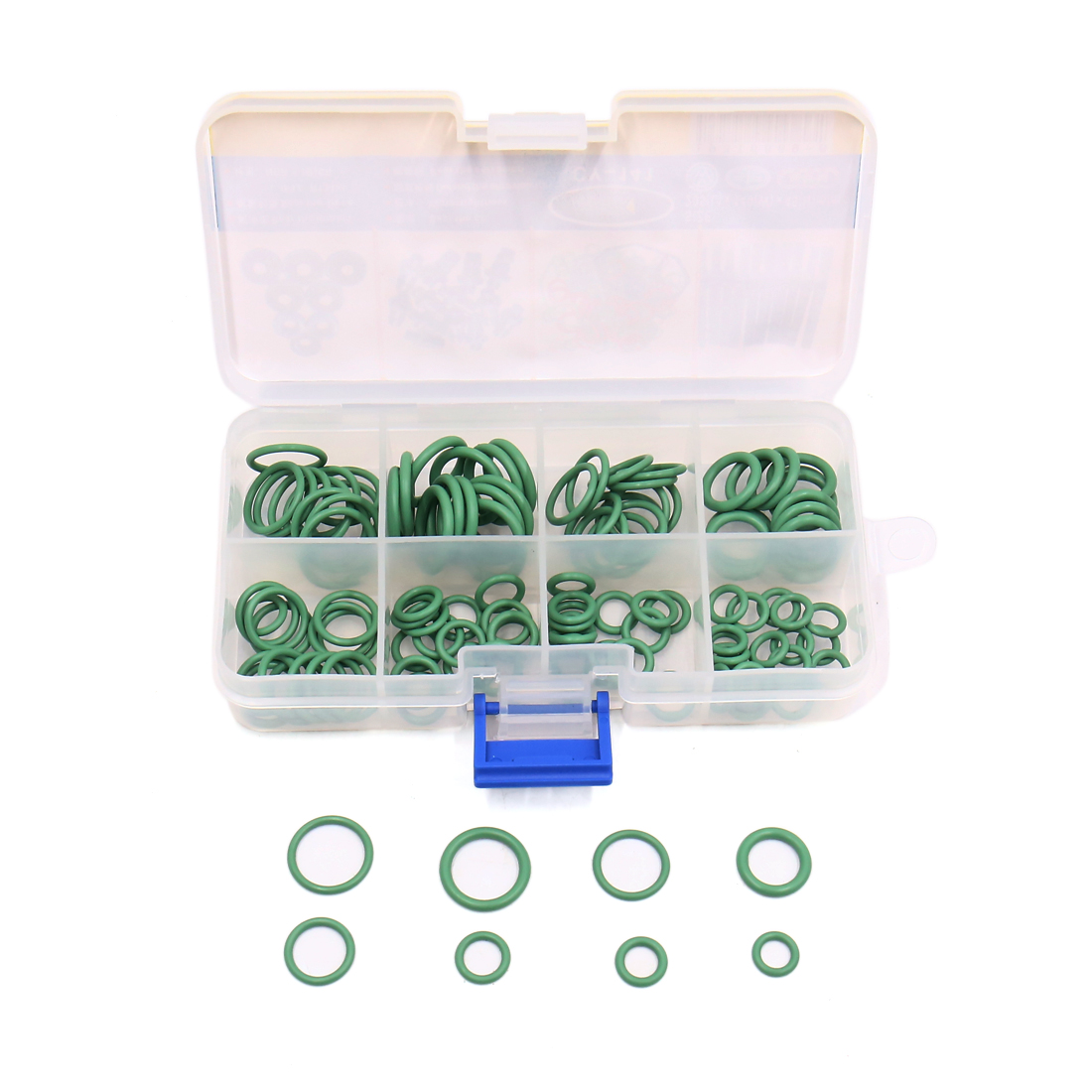 111Pcs Green O Ring Assortment Air Conditioner Rubber Oil Seal Gasket Set Kit