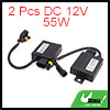 2 Pcs DC 12V 55W HID Xenon Headlight Digital Replacement Conversion Ballast for Car