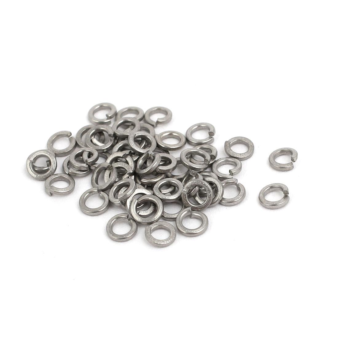 M2 Inner Diameter 304 Stainless Steel Split Lock Spring Washers Gasket 50pcs