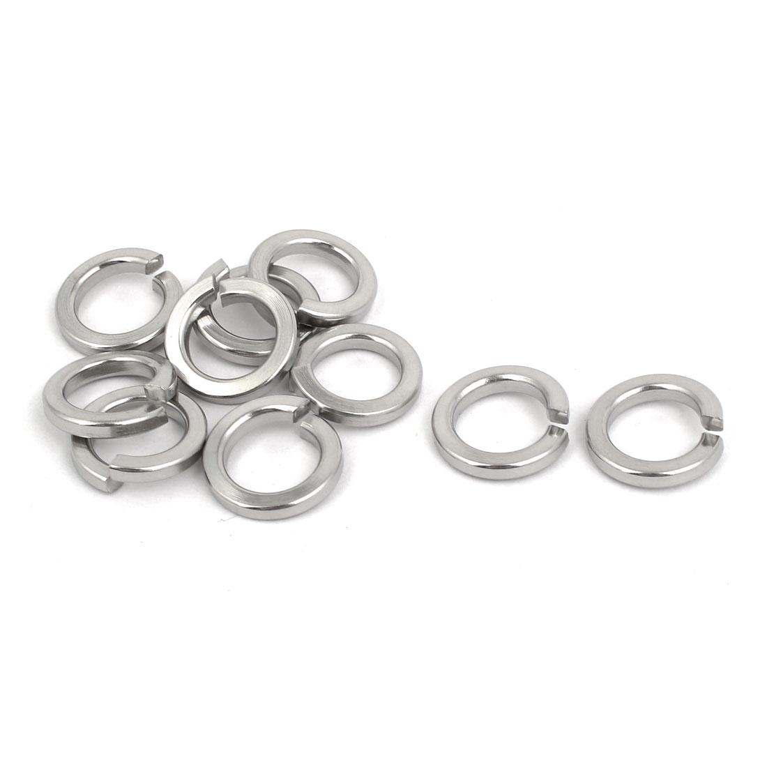 304 Stainless Steel M10 Spring Split Lock Washer Gasket Ring Screw Pad 10pcs
