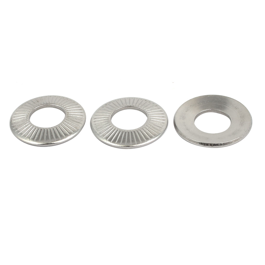 M12 304 Stainless Steel Industrial Locking Washer Silver Tone 3pcs