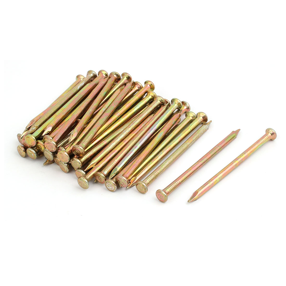 Fiber Concrete Cement Wall Steel Point Tip Wire Nails 80mm Length 50PCS